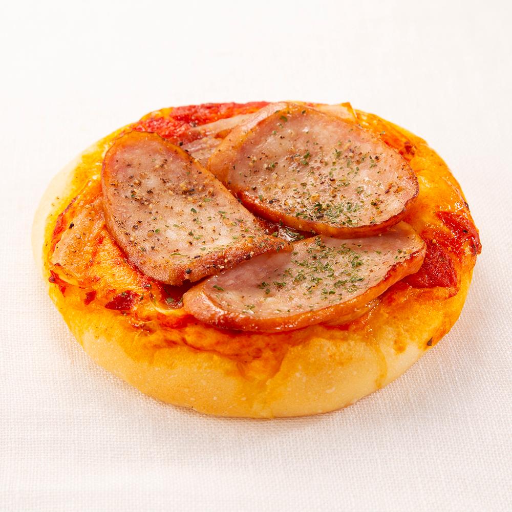 ボロニアソーセージのピザパンの写真